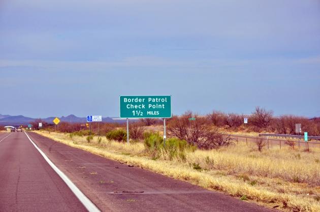 U.S. Border Patrol check point.